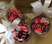 Set 3 palline Natale
