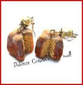 Natale in Dolcezze - Orecchini natrale - miniatura pandoro - dolci natalizi - in fimo e cernit
