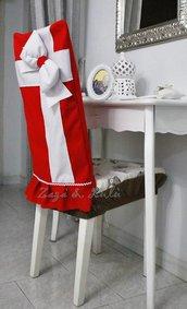 Coprisedia Natalizio Decorazioni Copri Sedie Fiocco Natale Idea Regalo Festa