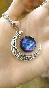 Ciondolo luna e universo