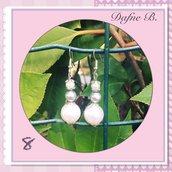 Orecchini pendenti tris di perline