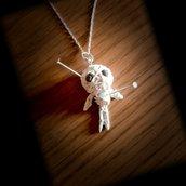 collana bambolina voodoo portafortuna in fimo