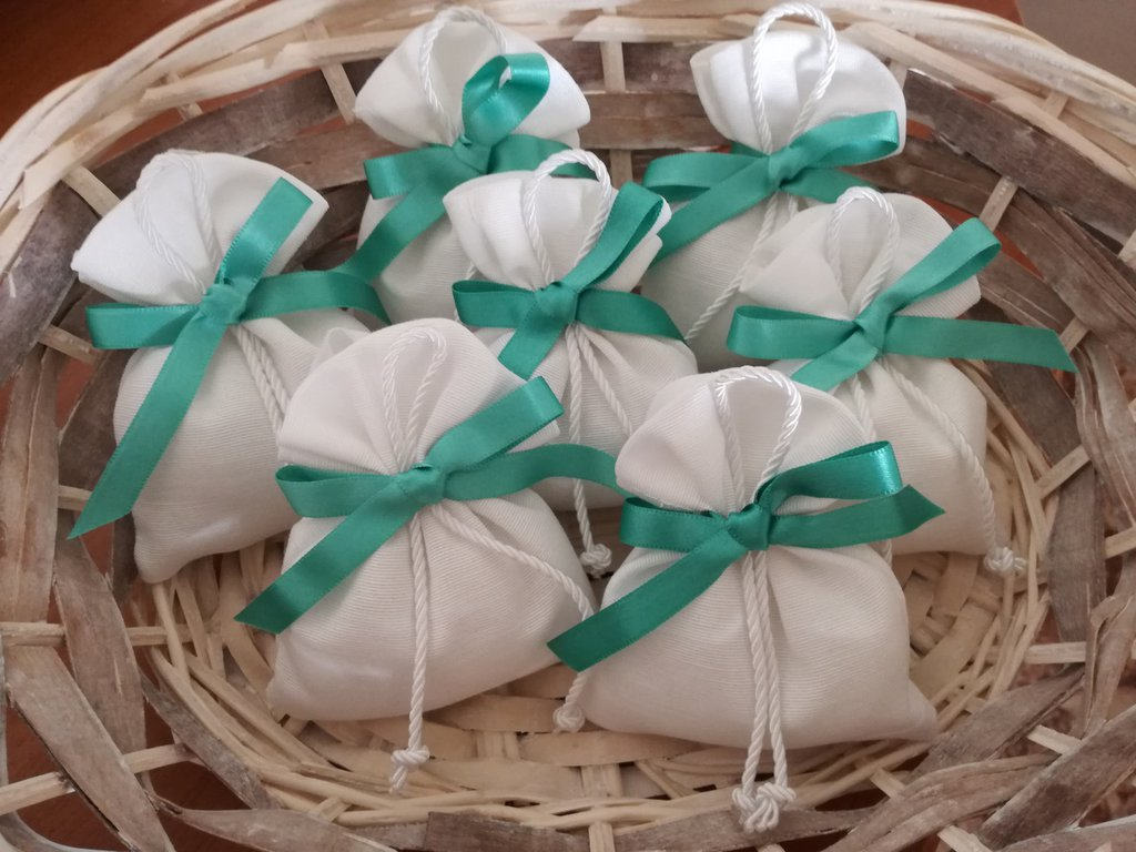 Bomboniere Mare Matrimonio.Sacchetti Portaconfetti Bomboniera Per Comunione Battesimo