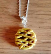 Collana Fimo Food crostatina