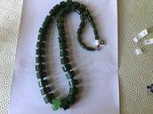 Collana di carta verde