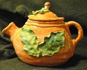 Teiera autunnale in ceramica handmade