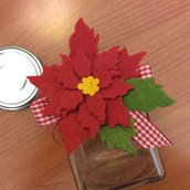 Barattolino riciclo creativo stella di Natale