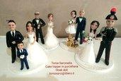 Cake topper personalizzati sposi in porcellana