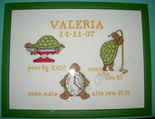 Quadro annuncio nascita tartarughe