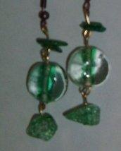 pendenti in pietra verde trasparente