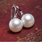 Orecchini perla bigiotteria