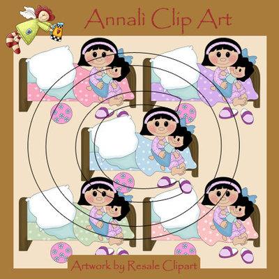 Fai la Nanna - Bimba Mora - Clip Art per Scrapbooking e Decoupage - Immagini