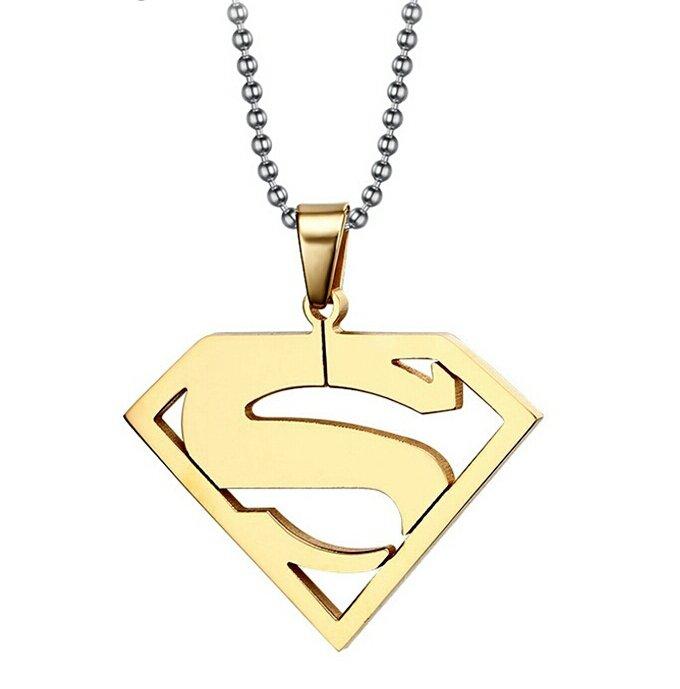 Ciondolo superman con collana