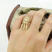 Anello acchiappasogni dorato