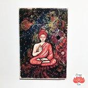 Targhetta in legno meditazione universo