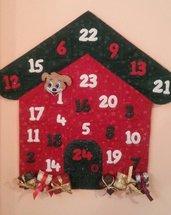 Natale - calendario dell'avvento di feltro