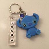 Portachiavi Stitch + Targhetta Ohana