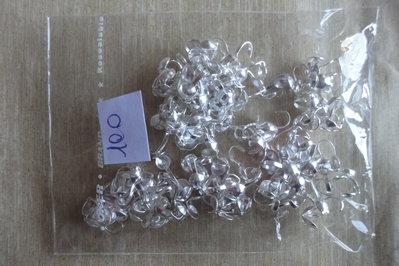 100 coprinodo metallo color argento 10×4 mm.