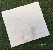 Partecipazione di matrimonio tema farfalla by Romanticards