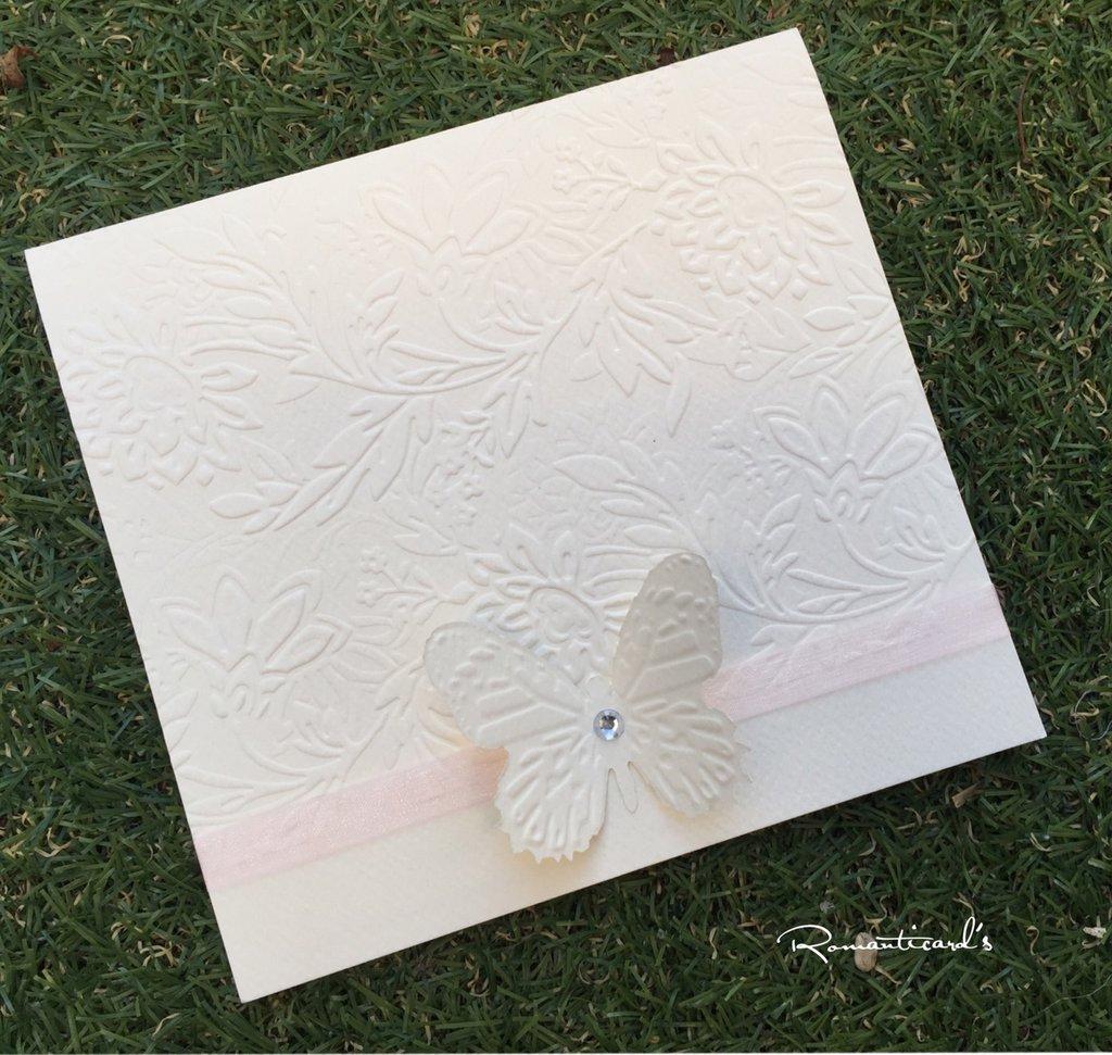 Matrimonio Tema Farfalla : Partecipazione di matrimonio tema farfalla by romanticards