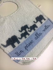 bavaglione pappa elefantini