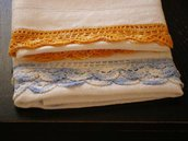 Coppia asciugamani in lino