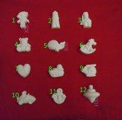Gessetti colore bianco profumati  per bomboniera Nascita, Cresima, Battesimo, Comunione, San Valentino, Matrimonio, Natale, Chiudipacco, segnaposto – Idea Regalo