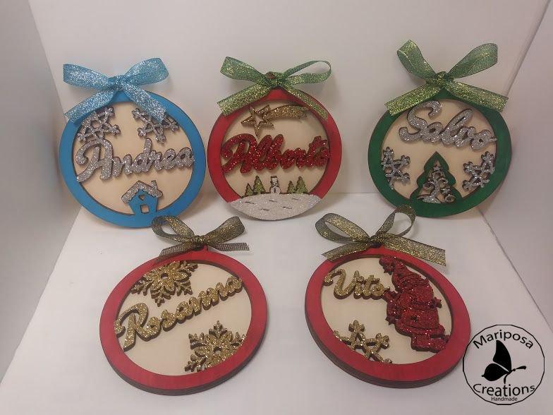 Favoloso Palline di Natale in legno - Feste - Natale - di Mariposa  MR03