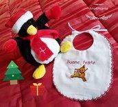Bavaglino natalizio fatto a mano