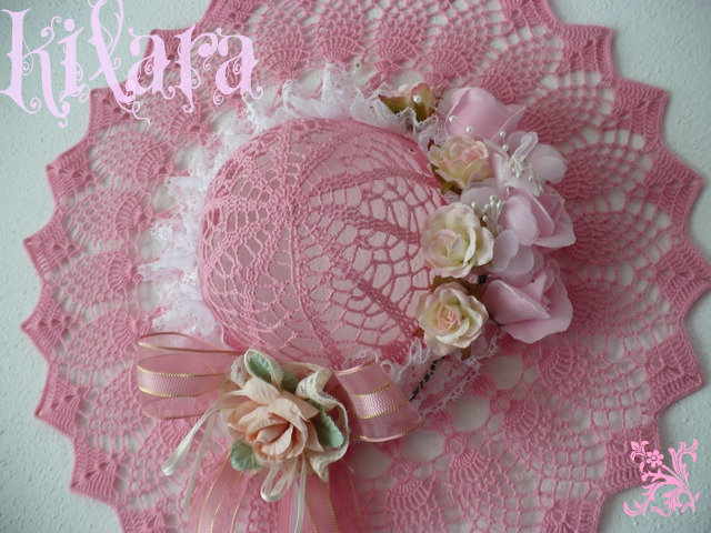 Cappello uncinetto rosa