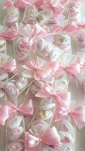 Bomboniera sacchettino - Confettata nascita - confettata battesimo - confetti decorati - confetti bambino - confetti bambina - bomboniera nascita - bomboniera battesimo - segnaposto battesimo