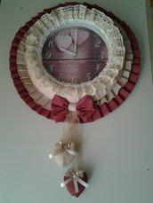 Orologio da parete fatto a mano in tessuto