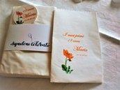 20 Bustine sacchetti portaconfetti,confettata cm 8 x13 personalizzati 18 anni ,matrimonio, battesimo,prima comunione