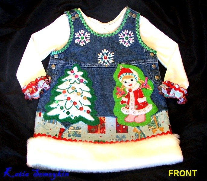 Custom Boutique Bambina Natale 2pc Set 12-18 mesi