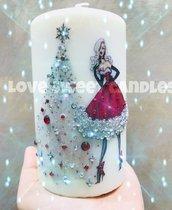 Regalo Di Natale - Candela con strass brillanti
