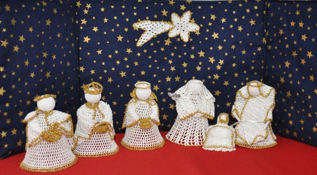 Presepe Ad Uncinetto Sintetico Feste Natale Di Edaart Su