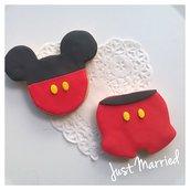 biscotti decorati a tema Mickey Mouse, topolino,