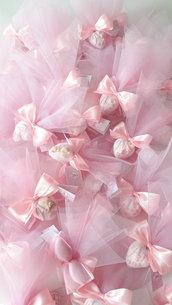 Fiocco di confetti- Confetti decorati - bomboniera nascita - bomboniera battesimo - confetti a cuore - confettata - idee regalo nascita - idee regalo battesimo - interflora - consegna regali a domicilio
