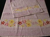 Coppia asciugamani viola viso + ospite