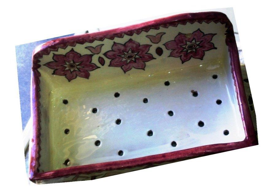 Accessorio porta spugne di ceramica, per cucina o bagno nelle ...