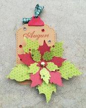 1 tag stella di Natale auguri