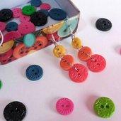 Orecchini con bottoni tricolore