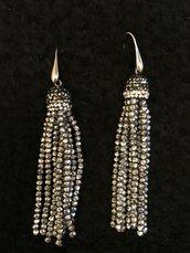 Orecchini pendenti nappina perline
