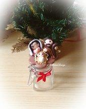 Presepe Portaspezie o caramelle con Natività Natale decorazione regalo utile Natale