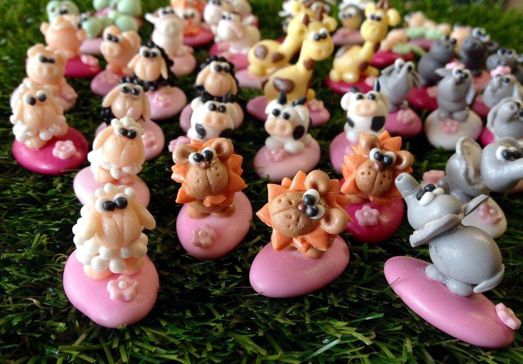 Confetti decorati animaletto - confettata battesimo - compleanno - bomboniere originali