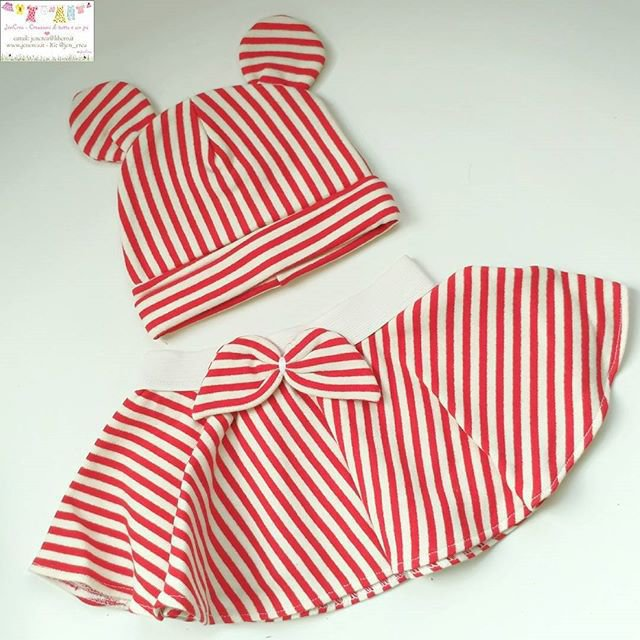 OFFERTA 1 set gonna + cuffia neonata 0-6 mesi