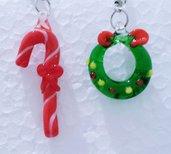 """orecchini in vetro """"Natale 1"""""""