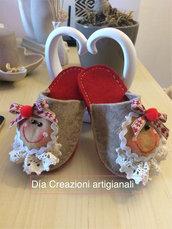Pantofole natalizie per bimbe