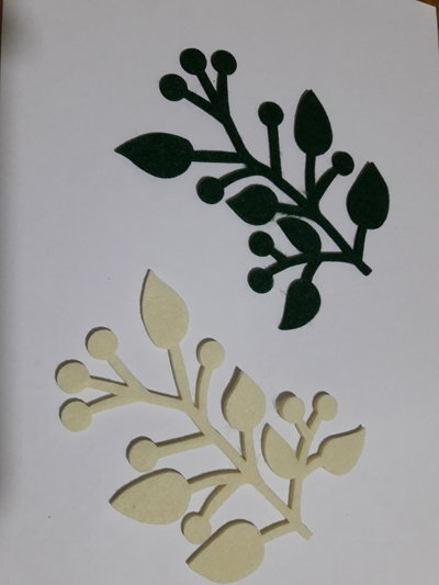 foglie feltro fustellate