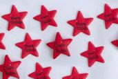 targhette decorazioni di natale a stella ideali come segnaposto